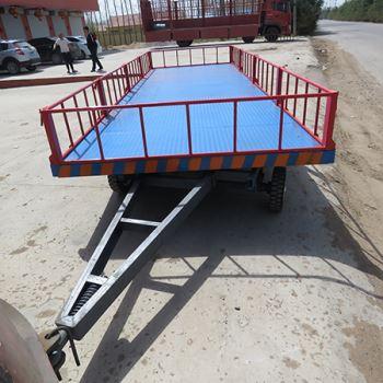 护栏式平板拖车